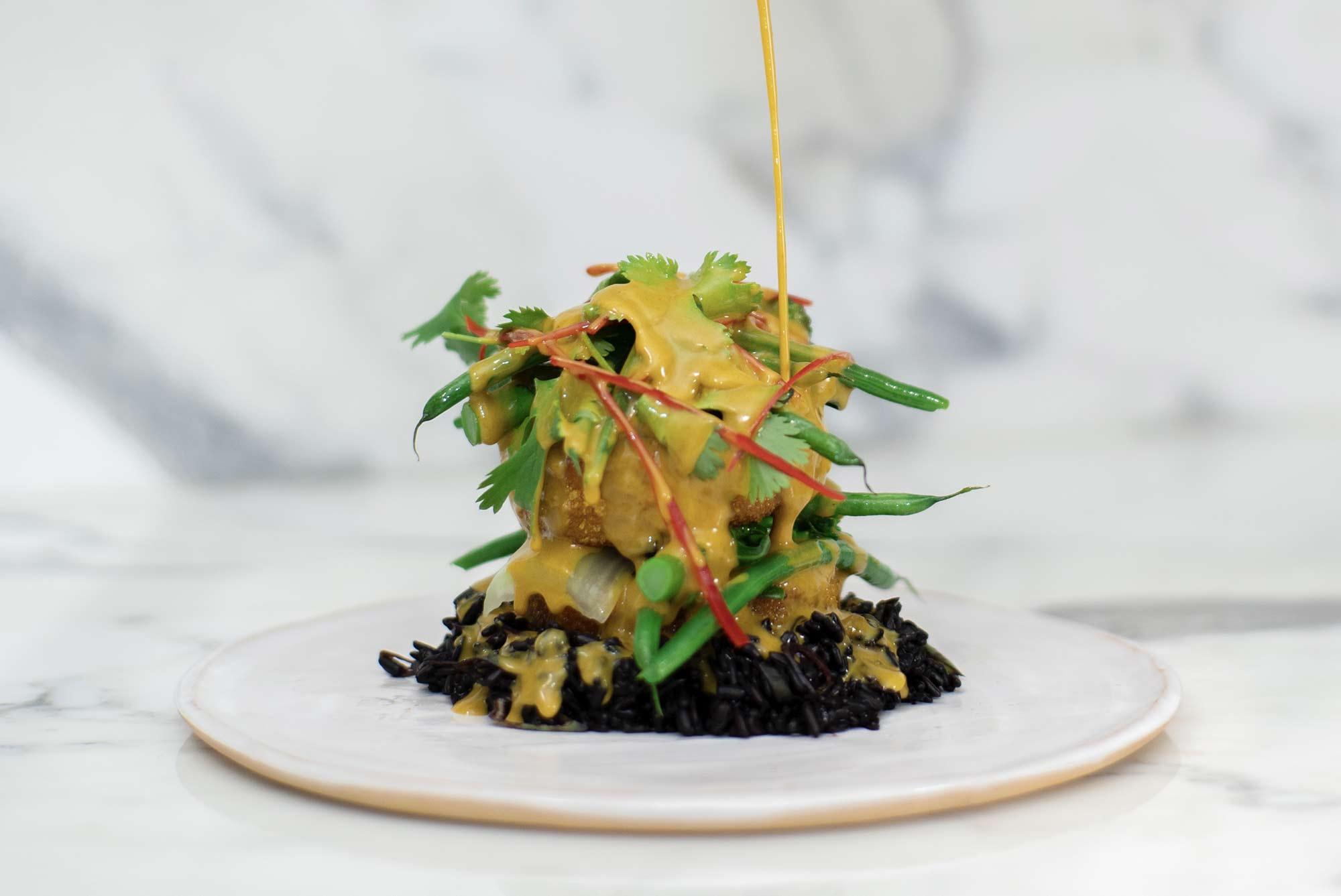 Giant Squash Katsu Nuggets & Black Venus Rice